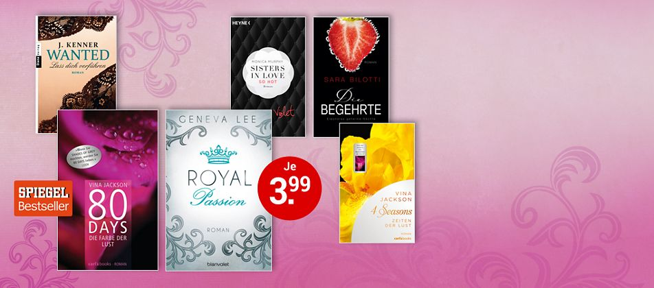 Sexy eBooks für je 3.99 €