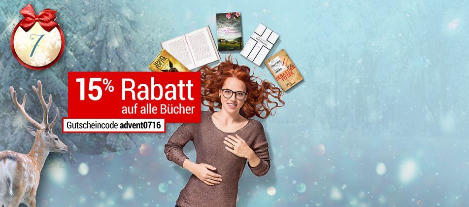 Nur Heute: 15% Rabatt auf alle Bücher im Online-Adventskalender von Weltbild!