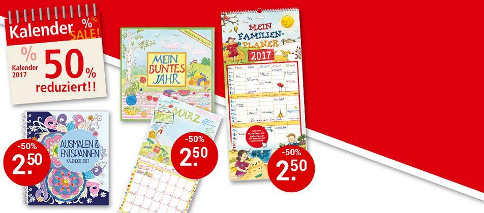 Kalender-SALE: Sparen Sie 50% - nur solange Vorrat reicht!