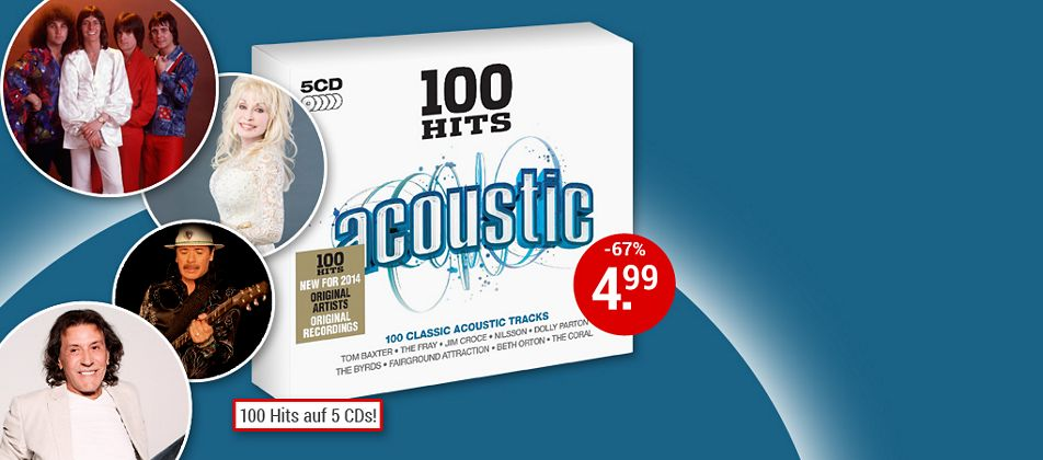 100 Hits Acoustic - 5CD hier kaufen