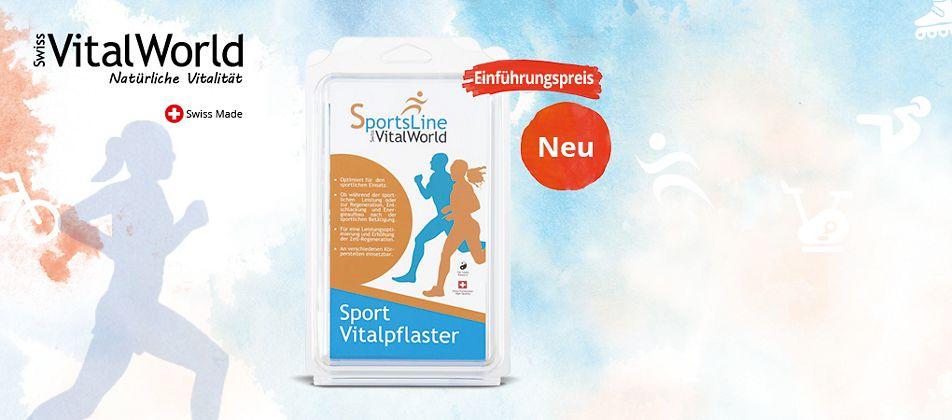 Vitalpflaster - Jetzt auch speziell für Sportler und Fr. 10.- sparen