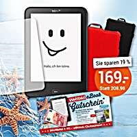 tolino Sommer-Paket: tolino vision 4 HD + Schutztasche mit Standfunktion (in schwarz oder rot zur Auswahl) + Displayschutzfolie 2er-Set + eBook Gutschein im Wert von € 10.- für Ihr erstes eBook