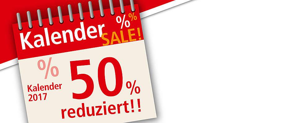 """#%%KALENDER-SALE 2017%%# ##Alle Artikel um 50% reduziert!## ##Nur solange Vorrat reicht.## ##Schnell sein lohnt sich!##     {{ button href=""""/deko-geschenke/kalender/kalender-nur-bei-uns"""" text=""""Zum Kalender-Sale""""}}"""