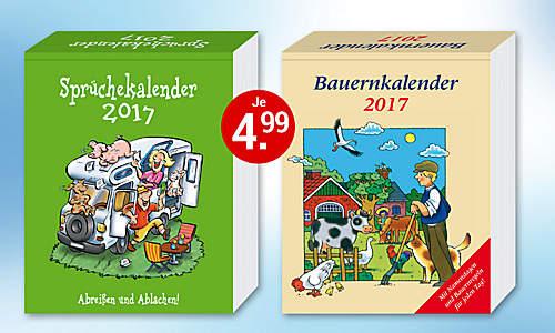 Bild Abreißkalender Bauern + Dumme Sprüche 2017