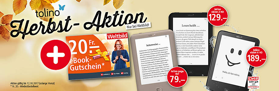 tolino Herbst-Aktion ab 15.09.