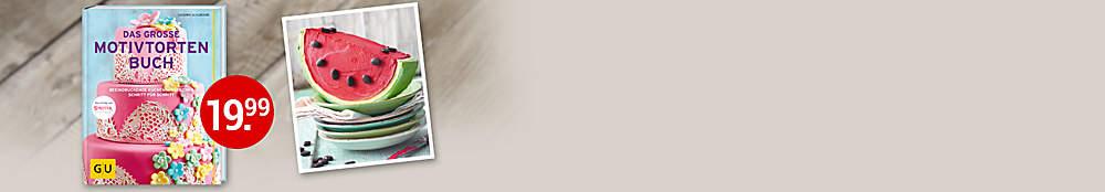 """###Diese und mehr tolle Motivtorten finden Sie in diesem Buch:  Schritt für Schritt zeigt Sandra Schumann, wie man mit Fondant, Marzipan und Schokolade umgeht, wie der Aufbau mehrstöckiger Torten klappt und wie aus Buttercreme und Icing tolle Dekorationen entstehen. So wird die Torte zum Kunstwerk - und Sie zum Cake Artist!  {{ button href=""""/artikel/buch/das-grosse-motivtortenbuch_21651431-1"""" text=""""Zum Buch""""}}"""