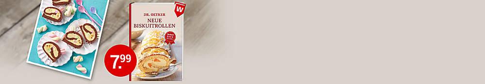 """###Diese und mehr leckere Biskuitrollen finden Sie in diesem Buch:  Leichte Biskuitrollen stehen ganz oben auf der Hitliste der Lieblingskuchen. Damit sie auch gelingen, wird jeder Schritt ausführlich erklärt. Dieses Buch beinhaltet viele neue Rezepte für jeden Geschmack.   {{ button href=""""/artikel/buch/dr-oetker-neue-biskuitrollen_23806734-1"""" text=""""Zum Buch""""}}"""