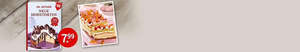 """###Diese und mehr tolle Modetorten finden Sie in diesem Buch:  Schon das """"Outfit"""" dieser Torten zieht die Gäste magnetisch an: Spiegeleier-Kuchen, Schokokusstorte & Co. sind Augenschmaus zugleich! Dabei sind sie dank genauer Anleitungen ganz easy nachzubacken.  {{ button href=""""/artikel/buch/dr-oetker-neue-modetorten_23819879-1"""" text=""""Zum Buch""""}}"""