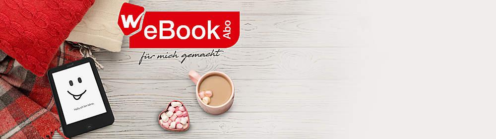 """Nur bei Weltbild: Das WeBookAbo  Jeden Monat 2 eBooks, die es nur bei Weltbild gibt: auswählen & loslesen. Solange Sie wünschen. Monatlich kündbar.  Jetzt GRATIS testen!  {{ button href=""""/ebooks/ebook-abos/webookabo"""" text=""""Mehr Infos zum WeBookAbo"""" }}"""