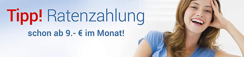 """Bild Einstieg """"Tipp! Ratenzahlung schon ab 9.- €  im Monat"""""""