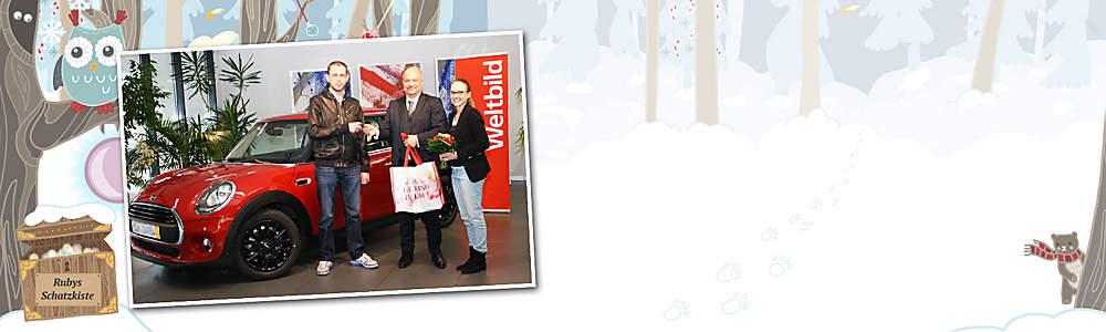 ##Bisherige Gewinner## Viele fleissige Helfer haben unserer Eule Ruby vor Weihnachten beim Suchen der Zauberperlen geholfen und wurden dafür mit **vielen tollen Preisen** belohnt:  * Oliver W. gewann einen Mini Metropolitan * Jutta Z., gewann eine Reise nach Vietnam * U.a. ein Smartphone gewonnen haben: Sandra M., Rüdiger B., Cornelia G., Martina K., Claudia S., Bernd M.    ####**Herzlichen Glückwunsch!**####     P.S. Sie wollen auch etwas gewinnen? Dann finden Sie jetzt **Ostereier mit Gewinn-Codes** und nutzen Sie Ihre Gewinnchance! Viel Glück!