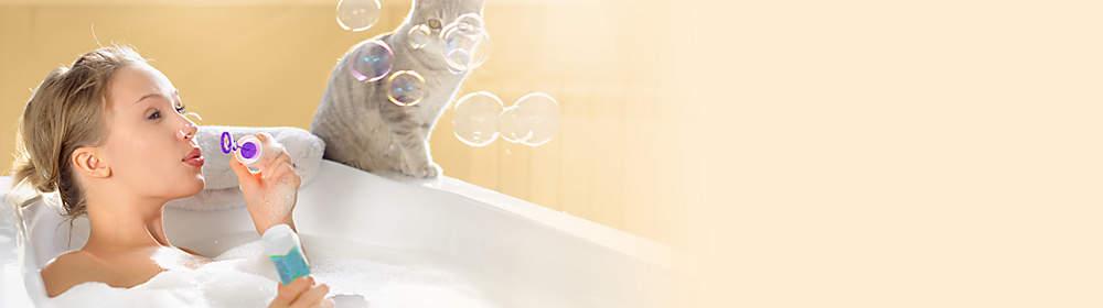 """####Willkommen in Ihrem Wohlfühl-Tempel  Verwandeln Sie Ihr Bad im Nu in eine Wellness-Oase. Ein duftendes Schaumbad, sanftes Kerzenlicht und chillige Lounge-Musik: So einfach kann Entspannen sein.  In unserem Themenspecial finden Sie tolle Ideen und Tipps für Ihre Wellness-Oase zuhause.   {{ button href=""""/themenwelten/schoener-wohnen#themenwelten-schoener-wohnen-home-spa"""" text=""""Zum Themenspecial""""}}"""
