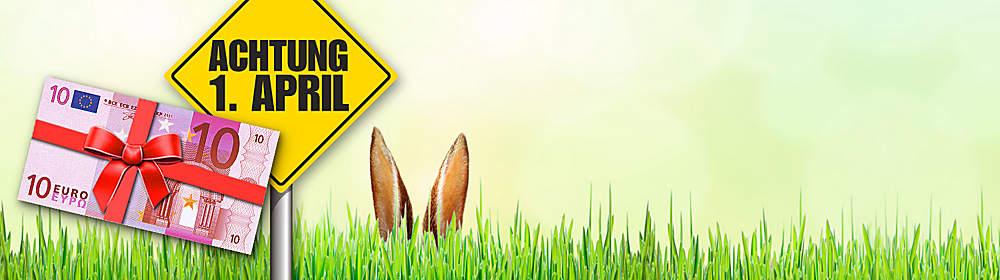 ##April, April...? **Sichern Sie sich jetzt einen 10.- € GUTSCHEIN bei unserem lustigen Suchspiel zum 1. April!**  Finden Sie heraus, welches der unten abgebildeten Produkte nicht existiert und sichern Sie sich durch einen Klick darauf den versteckten **10.- € Gutschein**, den Sie bis 04.04.17 und ab 50.- € Bestellwert* einlösen können.  **Tipp:** Nur hinter dem **nicht existierenden Produkt befindet sich der 10.- € Gutschein** mit dem dazugehörigen Aktionscode. Wenn Sie auf einer Produktseite landen und den Artikel kaufen können, dann müssen Sie weiter suchen.  Viel Glück!