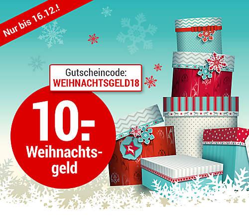 10.- € Weihnachtsgeld-Gutschein
