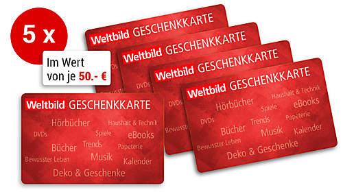 Weltbild-Geschenkkarte im Wert von 50.- €