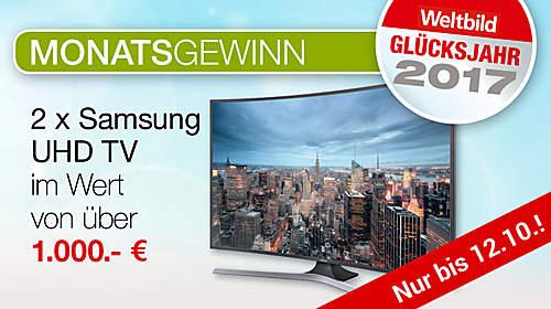 Monatsgewinn: Samsung UHD TV