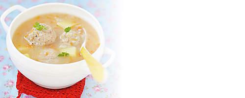 """###Soja-Tobinambur-Suppe  Würzige Suppe, zubereitet mit dem Probiotik-Eiweiss-Drink Variante Bouillon, für forciertes Abnehmen geeignet.   {{ button href=""""/news/downloads/161-Soja-Topinambur-Suppe.pdf"""" text=""""Rezept gratis herunterladen""""}}"""