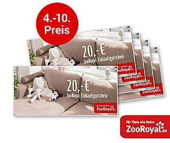 4. - 10. Preis: Je ein 20.- € ZooRoyal-Gutschein