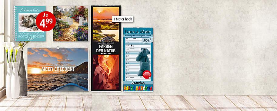 """#Druckfrisch:<br> Unsere Kalender 2017# Weltbild bietet eine **riesige Auswahl** an Kalendern für 2017. Ob **edle Panoramakalender** mit traumhaften Motiven, **Mondkalender** -  mit Tipps für ein Leben im Einklang mit der Natur,  **humorvolle Abreißkalender** oder unser **beliebter Familienplaner** jetzt neu mit vielen Extras zum Download:   Bei uns findet jede(r) den richtigen Kalender! Freuen Sie sich auf viele großartige Kalender:<br>  * **Unsere Preis-Hits:** [Wochenplaner und Wandkalender](#deko-geschenke-kalender-linke-seite-bild-kalender-diaries-2017-wochenplaner-)<br>  * **Unser Bestseller:** [Mein Familienplaner 2017](#deko-geschenke-kalender-linke-seite-grossmutters-kuechenkalender-mein-familienplaner)<br>  * **Tierisch witzig:** [""""Uli Stein""""-Kalender](#deko-geschenke-kalender-linke-seite-bild-kalender-uli-stein-2017)<br>  * **Wandschmuck im Großformat:** [Premium-Kalender](#deko-geschenke-kalender-linke-seite-bild-premiumkalender-2017)<br> * **Beliebt:** [Abreißkalender & riesige Panoramakalender](#deko-geschenke-kalender-linke-seite-mein-buntes-jahr-abreisskalender-2017)<br> * **Tolle Auswahl:** [Und noch viele Kalender mehr](#deko-geschenke-kalender-linke-seite-empfehlungs-rectangles)  **Sichern Sie sich jetzt ihre Lieblingskalender 2017!**"""