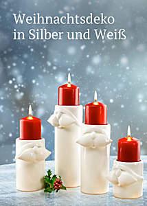 Bild Weihnachtsdeko Silber/Weiß
