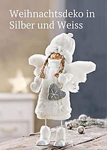 Bild Weihnachtsdeko Silber/Weiss