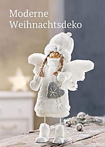 Bild Moderne Weihnachtsdeko Silber/Weiß/Gold
