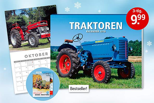 Bild Traktoren Kalender 2018 + 2 Blechschilder