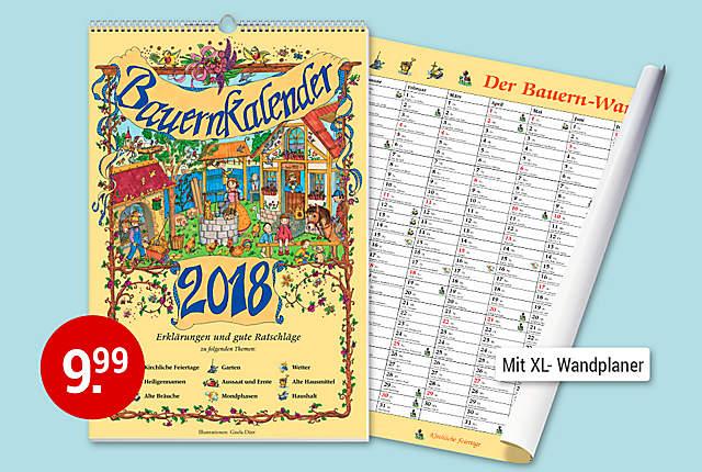 Bild Bauernwandkalender 2018