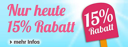 Gutschein-Countdown 15% Rabatt