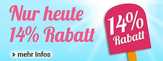 Gutschein-Countdown 14% Rabatt NEW