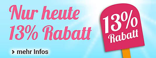 Gutschein-Countdown Juli 13% Rabatt