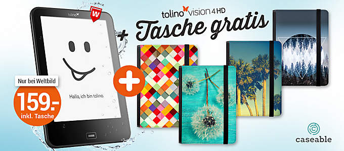 tolino vision 4HD + Tasche GRATIS