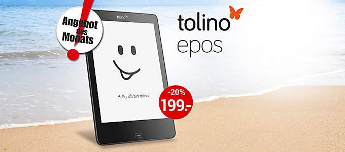 Angebot des Monats: tolino epos für nur 199.- €!