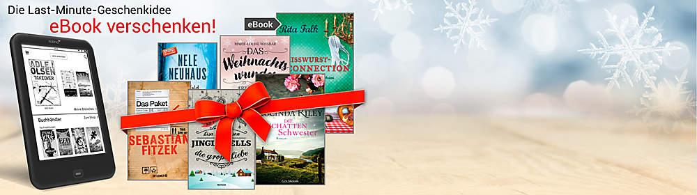 #NEU: eBooks verschenken!#  Machen Sie Ihren Liebsten eine ganz besondere Freude und verschenken Sie ein eBook! Mit unserem neuen und unkomplizierten Service können Sie jedes beliebige eBook unseres Shops verschenken. Und keine Sorge: sollte dem Beschenkten das geschenkte eBook nicht zusagen, so kann er sich ganz einfach ein anderes eBook aussuchen.   Ihre Vorteile bei uns im Überblick: schnelle und unkomplizierte Geschenkidee - auch in der letzten Minute eBooks sind lesbar über PC, Tablet, eReader, Smartphone, etc. über 2 Millionen eBooks zur Auswahl viele eBooks exklusiv bei uns