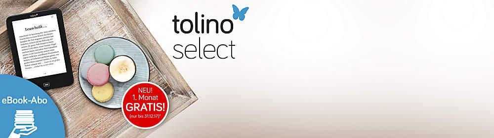 """Rundum gutes Lesevergnügen!  Jeden Monat 4 Wunschtitel aus unseren 40 monatlich zusammengestellten tolino select eBooks für nur 9.90 € pro Monat lesen. Lesenswert. Ohne Risiko. Monatlich kündbar.  [Jetzt GRATIS testen!*](#ebooks-tolino-select-idEL563-layout_right_KHL56-text_VRX5D)   So geht's: 1. Abo-eBook auswählen und """"im Abo laden"""" klicken 2. Anmelden und Bestellung abschließen - fertig!"""