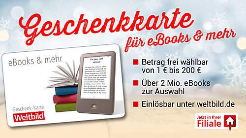 Geschenkkarte für eBooks & mehr