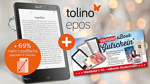 10.- € eBook-Gutschein GRATIS zum tolino epos