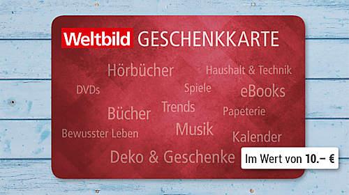 Weltbild-Geschenkkarte im Wert von 10.- €