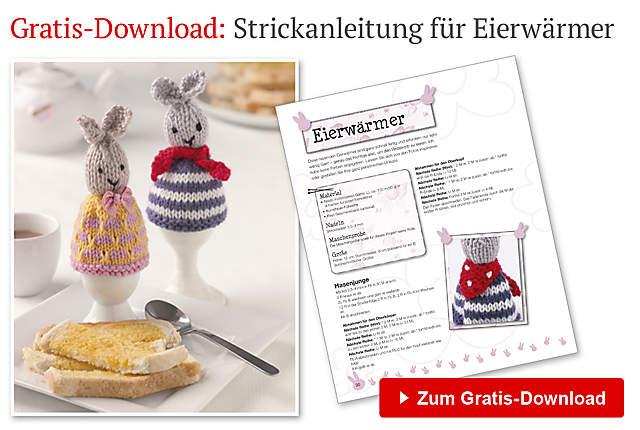 Gratisdownload für die  Anleitung Osterhasen-Eierwärmer