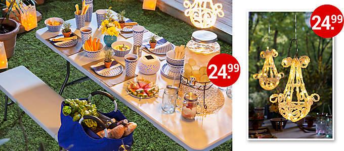 Bild Gedeckter Gartentisch