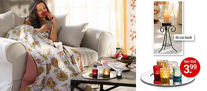 Bild Sofa mit Quilt