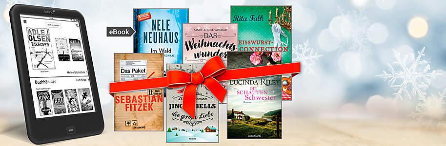 """##Die Last-Minute-Geschenkidee: eBook-Geschenkkarte verschenken##  Überraschen Sie Freunde und Familie mit einem eBook! Sie haben **über 2 Millionen eBooks** in unserem Shop zur Auswahl. Das Beste: Sollte das ausgewählte eBook dem Beschenkten nicht gefallen, so kann er sich ganz einfach ein anderes aussuchen.  **Ihre Vorteile auf einen Blick:** * **Schnelle & unkomplizierte Geschenkidee** * **Über 2 Mio. eBooks zur Auswahl** * **eBooks sind lesbar über PC, Tablet, eReader, Smartphone, etc.**  * **Gutschein sofort ausdrucken oder per Mail versenden**  {{ button href=""""/ebooks/ebook-schenken"""" text=""""Zu den eBook-Geschenkkarten""""}}"""