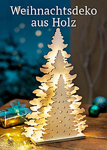 Bild Weihnachtsdeko aus Holz