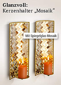 Bild Wand-Teelichthalter Mosaik