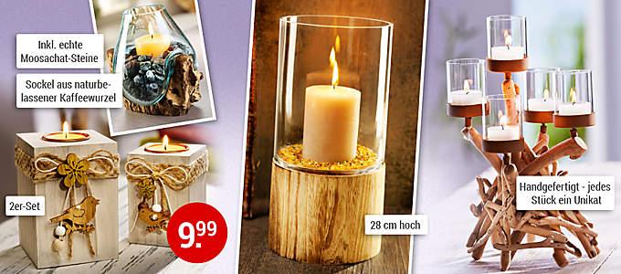 Bild Deko-Objekte Licht und Holz