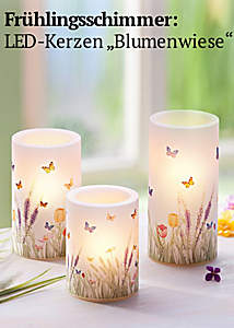 Bild LED-Kerzen Blumenwiese