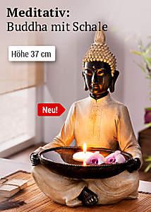 Bild Buddha mit Schale