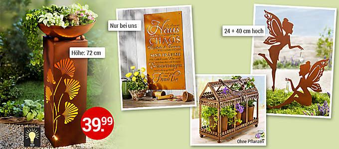 Bild Gartendeko mit Edelrost-Finish