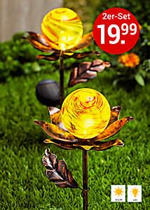 Bild Solar-Gartenstecker Blume
