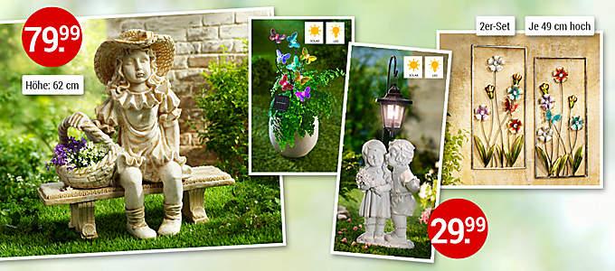 Bild Romantische Gartendeko